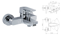 Душ смесител Ideal Standard CERAPLAN III B0718AA